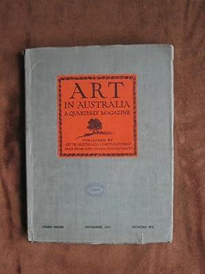 Art in Australia, Third Series, No. 6,: Sydney Ure Smith;