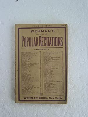 Wehman's Selection of Popular Recitations: No. 1.