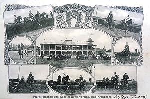 Pferde-Rennen des Nahetal-Renn-Vereins, Bad Kreuznach. Gestempelt 21.7.(19)07.: Bad Kreuznach)