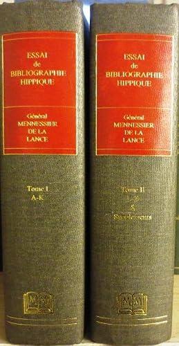 Essai de Bibliographie Hippique - Donnant la Description détaillié des Ouvrages publi...
