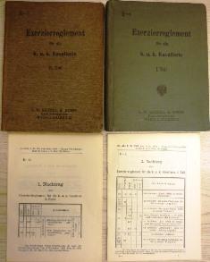 I. (E-1) + II. Theil (E-2) + 4 Nachträge.: Exercier-Reglement für die k. u. k. Cavallerie: