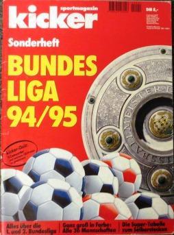 Sonderheft BUNDESLIGA 94/95.: kicker sportmagazin: