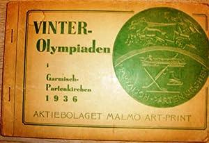 VINTER-Olympiaden i Garmisch-Partenkirchen 1936. Akiebolaget Malmö Art-Print. Schwedisches ...