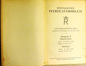 Enthaltend die Eintragungen aus dem Jahre 1925, Jahrgang: P: RHEINISCHES PFERDE-STAMMBUCH 24. Band: