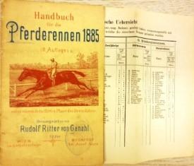 Handbuch für die Pferderennen 1885 (II. Auflage). Herausgegeben von Rudolf Ritter von Ganahl.:...