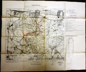 Karte des Geländerittes der reiterlichen Vielseitigkeitsprüfung am 15. August auf dem ...
