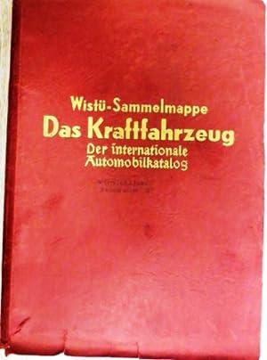 Das Kraftfahrzeug. Der internationale Automobilkatalog. 59 Sammelblätter mit 262 eingeklebten ...