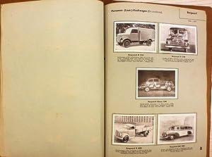 Das Kraftfahrzeug. Der internationale Automobilkatalog. 33 Sammelblätter mit 153 eingeklebten ...