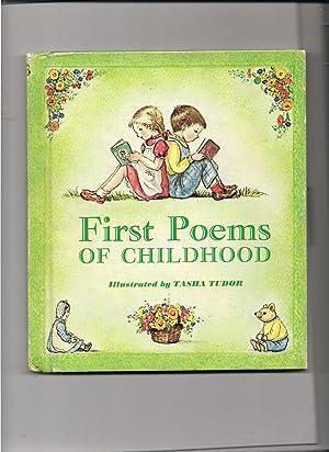 First Poems of Childhood: Tudor, Tasha-illustrator