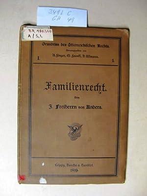 Grundriß des Familienrechts.: Anders, Josef Prof.
