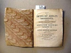 De Fetus et Adulti Differentia consensu gratiosi: Kölpin, Alexander Bernhard