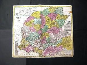 Frisae Dominium vernacule Friesland.: Lotter, Tobias Conrad.