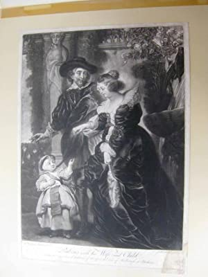 Rubens with his Wife an Child. -- From the Original in the collection of his grace the Duke of Ma...