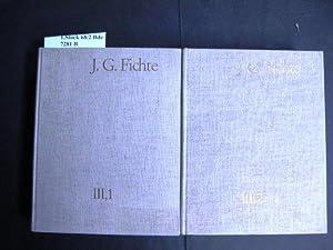 Briefwechsel 1775-1793 und 1793-1795. Herausgegeben von Reinhard: Fichte, Johann Gottlieb.