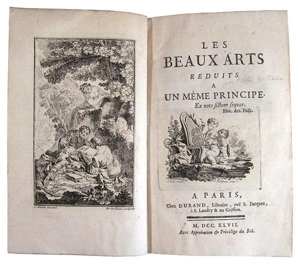 Les Beaux Arts réduits à un même: BATTEUX (Abbé Charles)