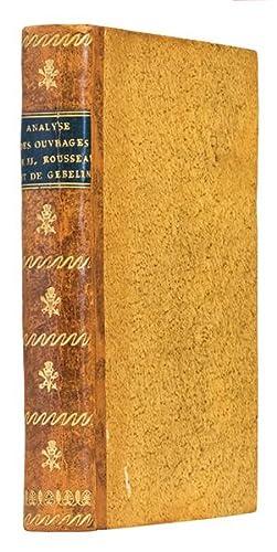 1- Analyse des ouvrages de J.J. Rousseau: LE GROS (Jean-Charles-François)