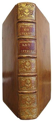 Les Offices de Ciceron, traduction nouvelle, Avec: CICERON (Marcus Tullius