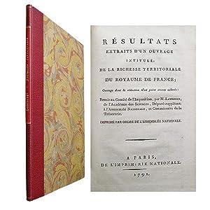 Résultats extraits d'un ouvrage intitulé: De la: LAVOISIER (Antoine-Laurent)