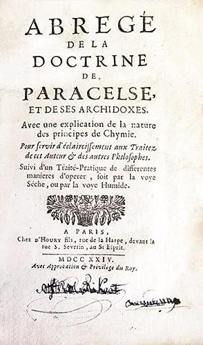 Abrégé de la doctrine de Paracelse, et: PARACELSE (Paracelsus), COLONNA