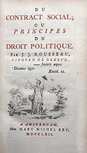 Du contract social; ou Principes du Droit: ROUSSEAU (Jean-Jacques)
