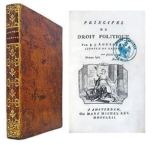 Principes du Droit politique [Du Contract social].: ROUSSEAU (Jean-Jacques)