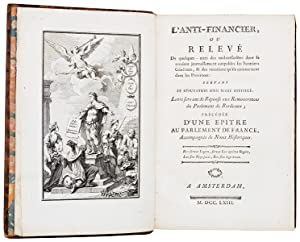 1- [CERFVOL (Chevalier de)]. Mémoire sur la: CERFVOL (Chevalier de),