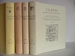 Clavis germanico-lithuana : Handschriftliches deutsch-litauisches Wörterbuch des