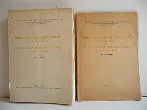 Biblia litewska chylinskiego. Nowy Testament. Tom II: KUDZINOWSKI (Czeslaw), OTREBSKI