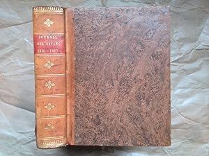 Journal des savants. Septembre-Décembre 1816. Année 1817.: JOURNAL DES SAVANS]