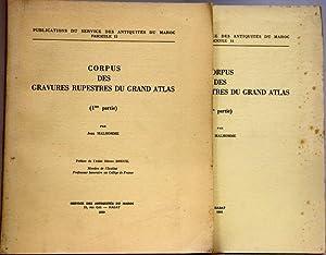 Corpus des gravures rupestres du grand Atlas.: MALHOMME (Jean).