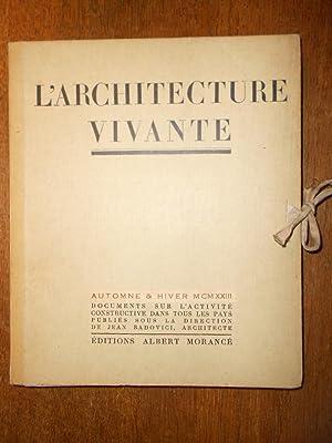 L'architecture vivante. Documents sur l'activité constructive dans: BADOVICI (Jean) [Dir.]