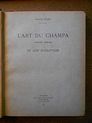 L'art du Champa (Ancien Annam) et son: STERN (Philippe)