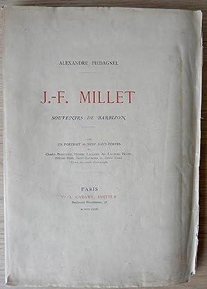 J.-F. Millet. Souvenirs de Barbizon avec un: PIEDAGNEL (Alexandre)