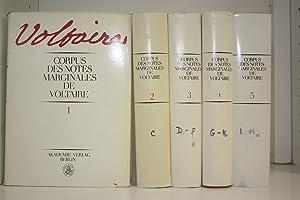Corpus des notes marginales de Voltaire. Tomes: VOLTAIRE