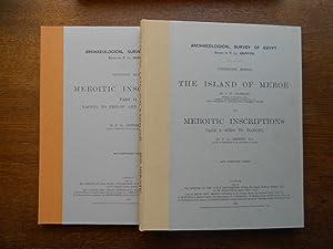 The island of Meroë. [Suivi de] Meroitic: CROWFOOT (J. W.),