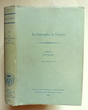 La Philosophie de l histoire. Edited by J.: VOLTAIRE
