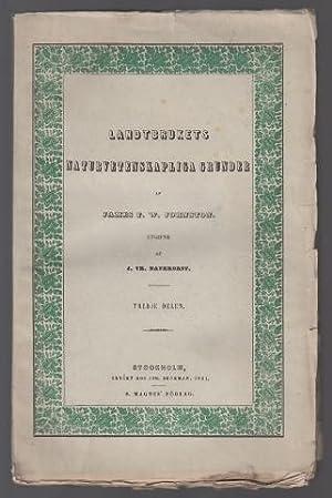 Landtbrukets naturvetenskapliga grunder med hufvudsakligt afseende på: Johnston, James F.