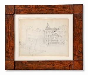 Gustav Adolfs torg med gamla operan och Gustav II Adolfs ryttarstaty, Jakobs kyrktorn i fonden. ...
