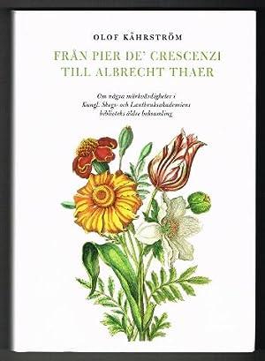 Från Pier de' Crescenzi till Albrecht Thaer.: Kåhrström, Olof