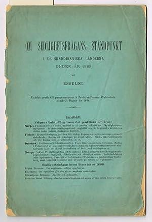 Om sedlighetsfrågans ståndpunkt i de Skandinaviska länderna: Adlersparre, Sophie (pseud.