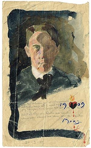 Självporträtt som ung man.: Lybeck, Bertil (1887-1945)