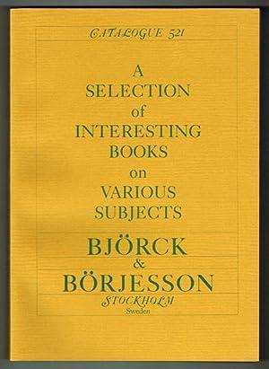 Björck & Börjesson. Catalogue 521. A Selection: Löwendahl, Björn]