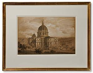 Rom med Peterskyrkan.: Palm, Gustaf Wilhelm
