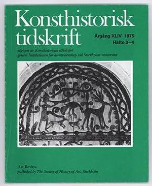 Konsthistorisk tidskrift. Årg. 44 (1975), häfte 3-4.: Rafael / Raphael