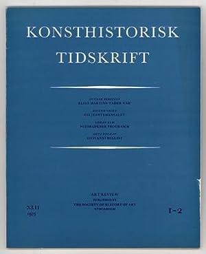 Konsthistorisk tidskrift. Årg. 42 (1973), häfte 1-2.: Martin, Elias /