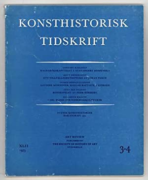Konsthistorisk tidskrift. Årg. 42 (1973), häfte 3-4.: Pasch, Johan /