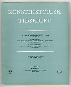 Konsthistorisk tidskrift. Årg. 41 (1972), häfte 3-4.: Runge, Ph. O.