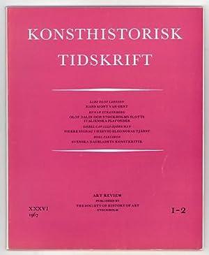 Konsthistorisk tidskrift. Årg. 36 (1967), häfte 1-2.: Mont van Gent