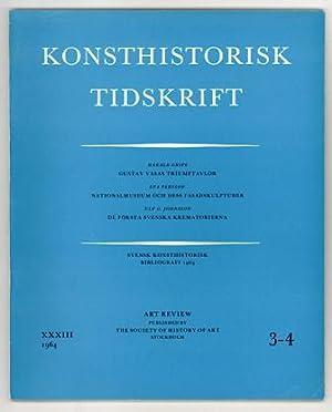 Konsthistorisk tidskrift. Årg. 33 (1964), häfte 3-4.: Gustav Vasa /