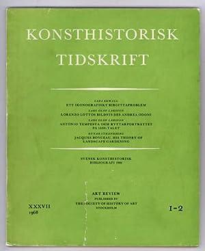 Konsthistorisk tidskrift. Årg. 37 (1968), häfte 1-2.: Heliga Birgitta /
